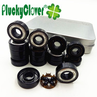 PluckyClover New Upgrades 16pc 608 Si3n4 Ceramic Ball Bearing Abec11 Competition Inline Roller Skates Wheels Skateboard