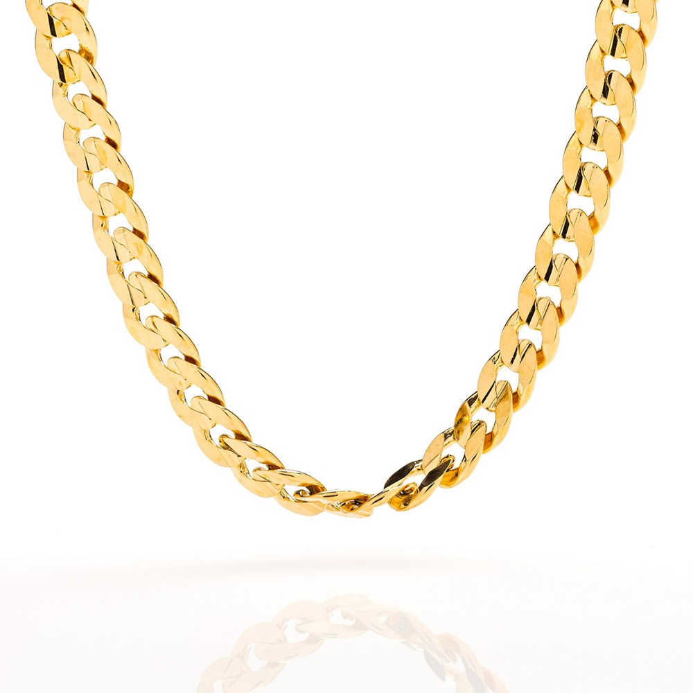gold chain necklace 9mm cuban curb link gold filled mens jewelry in chain necklaces from jewelry. Black Bedroom Furniture Sets. Home Design Ideas