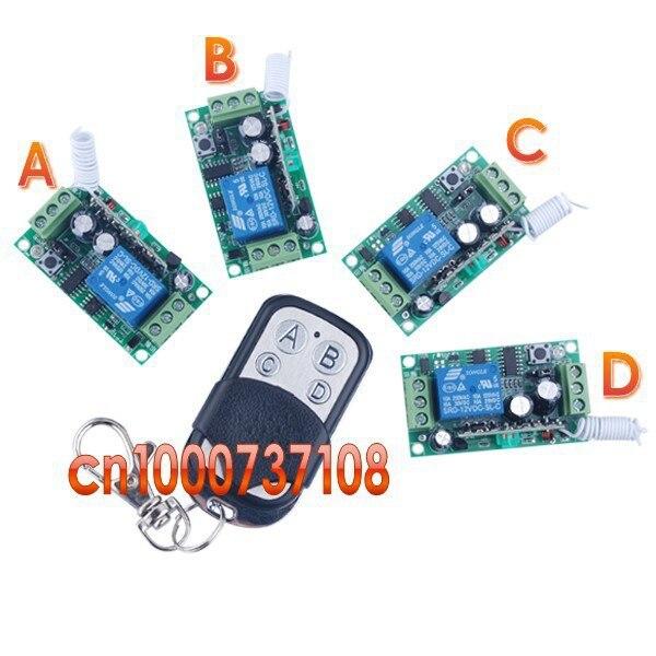 12V 1ch Wireless Remote Control Switch Transmitter &4