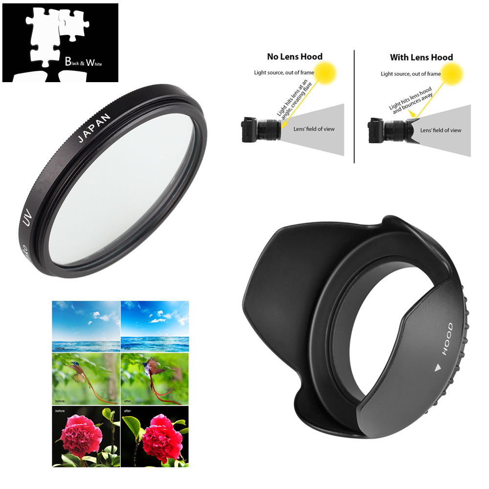 For Olympus E-PL5 Multithreaded Glass Filter UV 58mm 1A Multicoated Haze