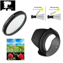 37mm UV Filter Lens Hood for Olympus OMD EM10 OM D E M10 Mark IV III II E PL9 E PL8 E PL7 E PL6 E PL5 E PL3 with 14 42mm lens