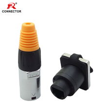 RJ45 Waterproof Connector Sockets Female Ethernet IP65 Panel Mount Straight Type 1SET/2PCS