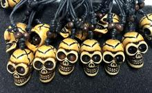 FREE SHIPPING 12 pcs Personality New Fashion Vintage jewelry Skull Handmade Necklace