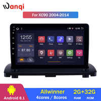 2G RAM 32G ROM Android 8.1 Car GPS Navigation for 2004-2014 Volvo XC90 Radio Multimedia Player with Bluetooth Mirror Link WIFI