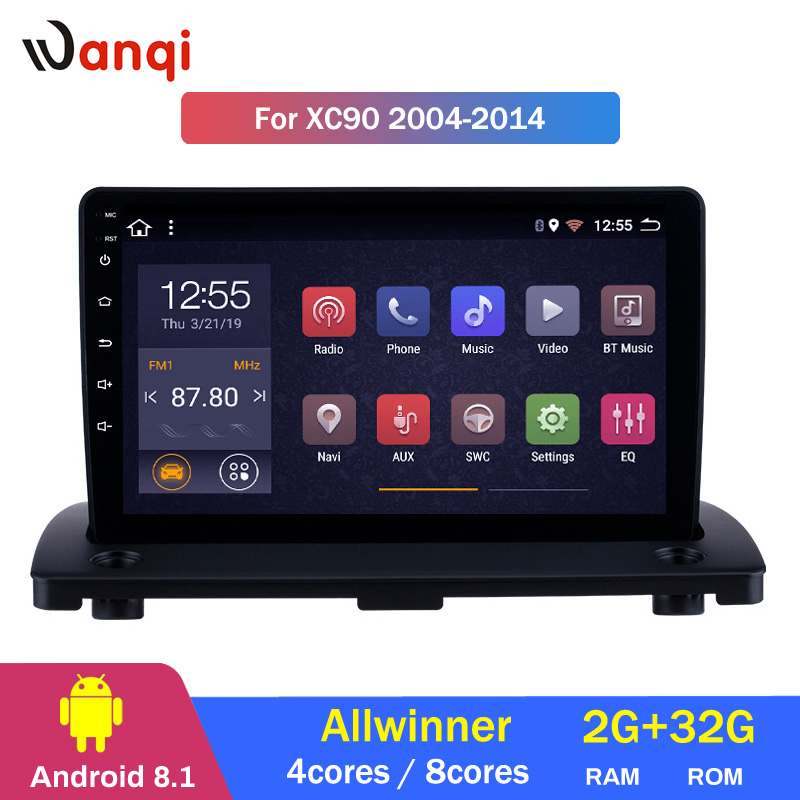 2G RAM 32G ROM Android 8.1 Do GPS Do Carro de Navegação para 2004-2014 Volvo XC90 Player Multimídia Rádio com Bluetooth Ligação Espelho WI-FI