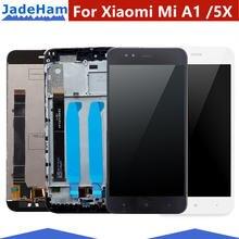 ЖК дисплей с рамкой для xiaomi mi a1 + 10 сенсорных панелей
