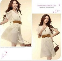 Free Shipping New Arrival 2012 Dress 100 Quality Guarantee Good Quality Cotton Blend Dress For Summer