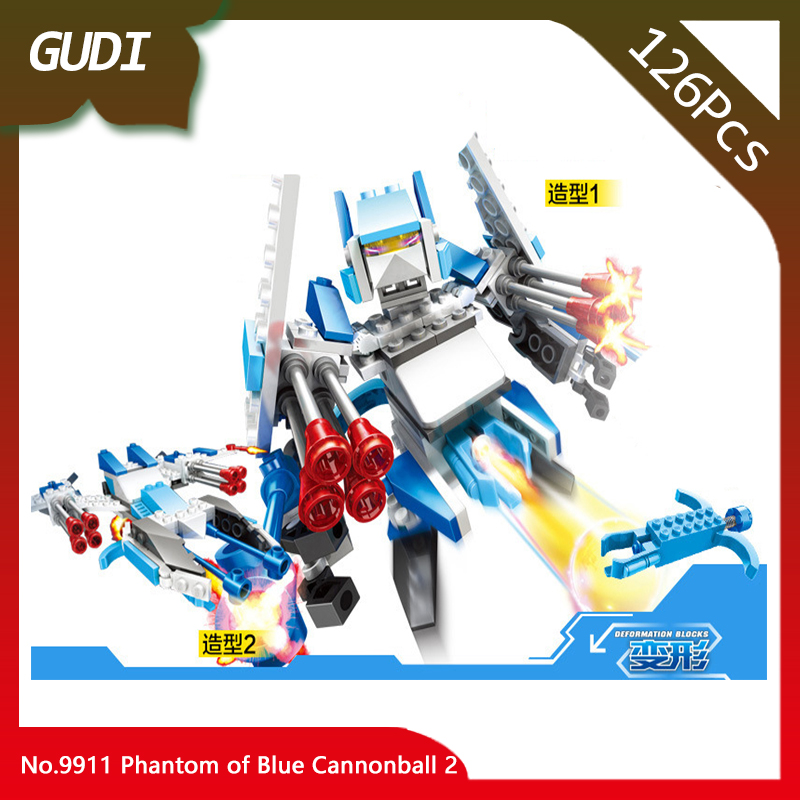 GUDI 9911 126pcs Creator Series The Phantom of Blue Cannonball 2 Model Building Blocks Kids Favourite Toys For Birthday Gift