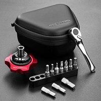 ROCKBROS 12 In 1 Bike Torque Wrench Tool Multi Tools Mini Ratchet Socket Set Kit MTB
