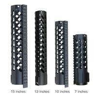 7 10 12 15 AR15 Free Float Keymod Handguard Picatinny Rail For Hunting Tactical Rifle Scope