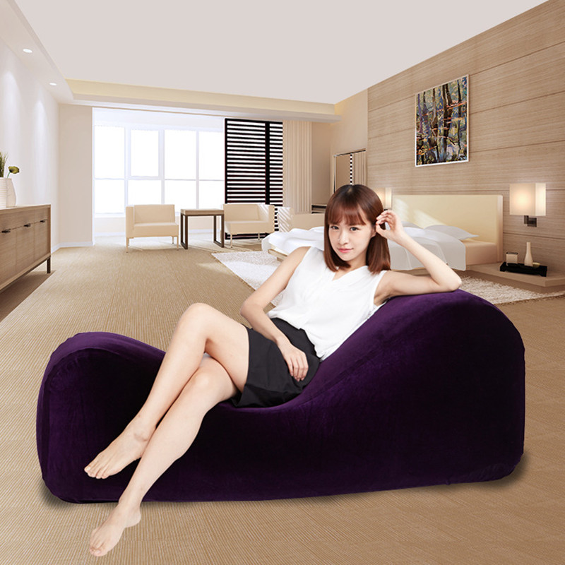 NEW inflatable pillow for sex sofa chair sex bed adult sex furniture S type love sofas+ inflatable pump sex products for couples