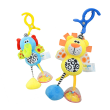 Baby Kids Toys Rattles Soft Plush Animal Elephant and Lion Clip Baby Hanging Toys Dolls Stroller Crib Hanging Wind Chimes baby kids rattles toys cotton stroller pram crib hanging soft plush toys animal clip baby crib bed hanging bells toys for babies