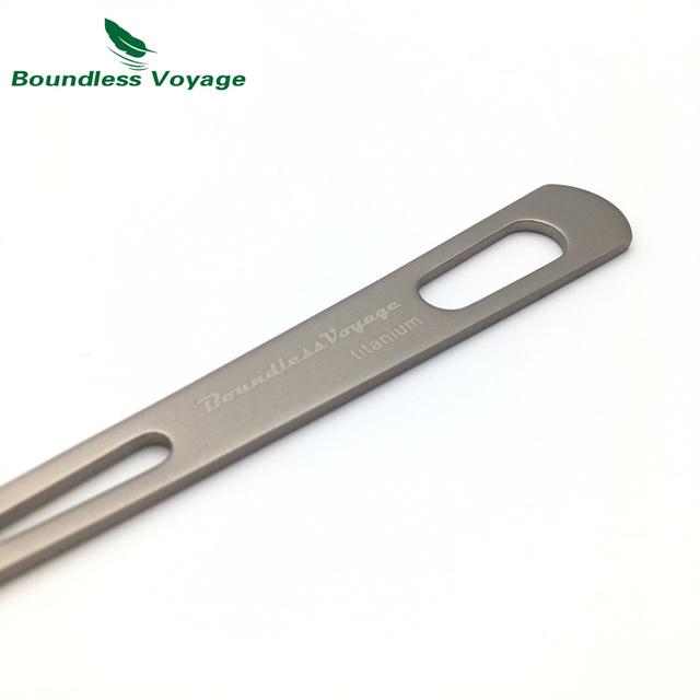 Boundless Voyage Camping Utensils Ultralight Titanium Cutlery Spoon Fork Spork With Packing bag Ti1522B/Ti1535B/Ti1560B