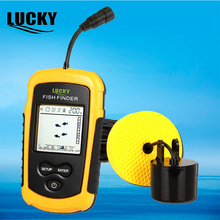 Lucky Fish Finder for boat fishing Portable ice fishing Finder Accessories Sonar Sensor Depth Sounder Wired Fishfinder FF1108 1