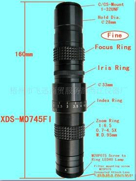 New Machine vision lenses Widely used in great depth of electronic products test Adjustable aperture zoom lens!free shipping!  цены