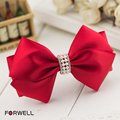 Forwell Elegant red bow hair accessories for women handmade white beaded compound bowknot hairpins DIY headdress flower jewelry