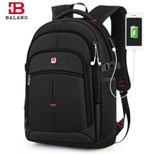 BALANG Brand 2019 New Men's Casual Backpacks Waterproof 15.6 inch Laptop backpack USB Large Capacity School Backpack for Boys все цены