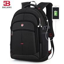 BALANG бренд 2019 Новые мужские повседневные рюкзаки водонепроницаемый 15,6 дюймов рюкзак для ноутбука USB большой емкости школьный рюкзак для мальчиков