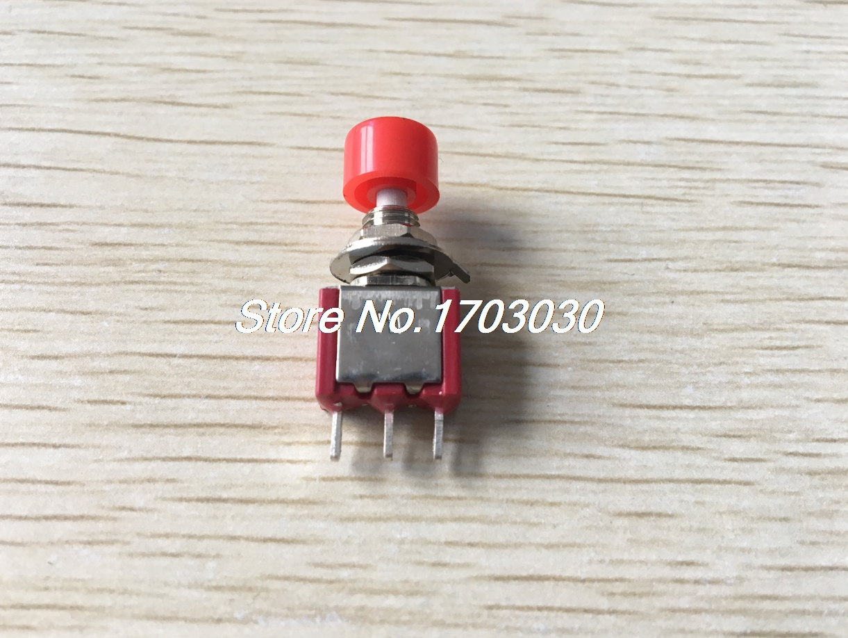 5pcs AC 2A/250V 5A/120V 3 Pin SPDT Momentary Push Button Pushbutton Switch 1 NO 1 NC цена
