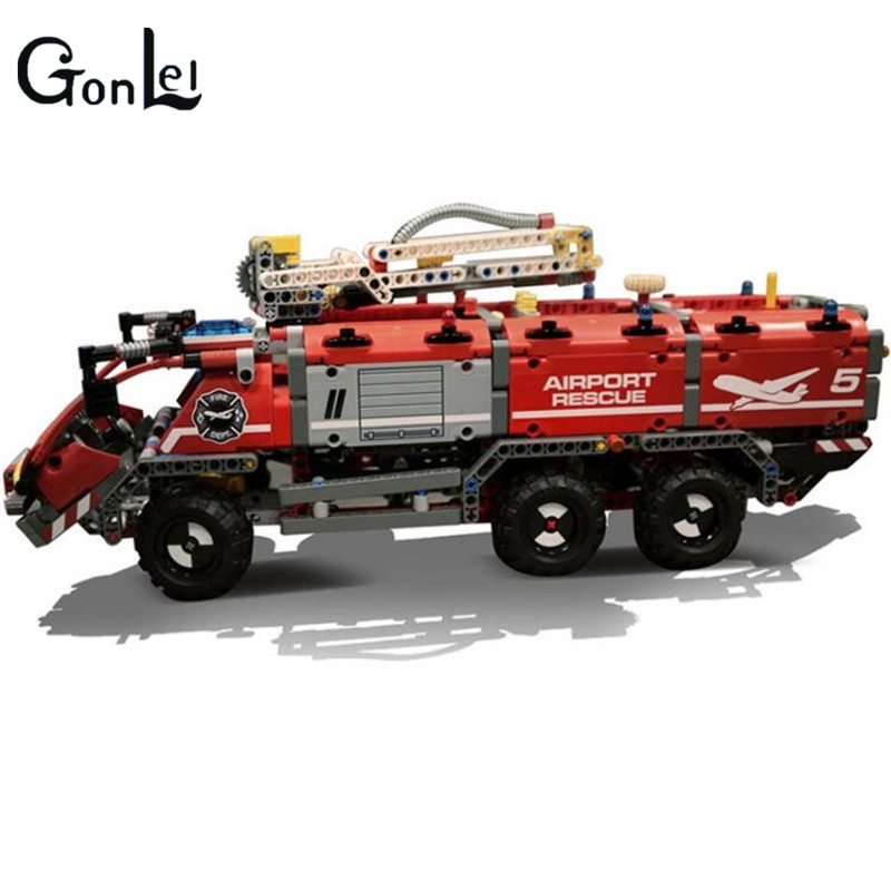 (GonLeI) 20055 Genuine Technic Mechanical Series The Rescue Vehicle Set Children Educational Building Blocks Bricks Toys the rescue