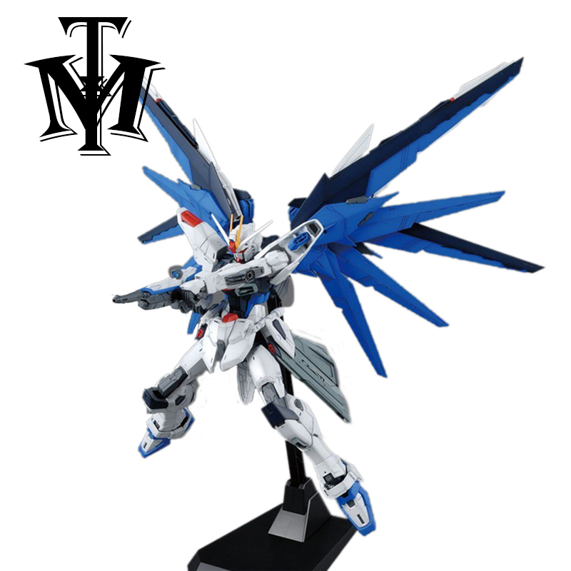 MG Strike Freedom Gundam 1/100 Blue Robot model hot Kids Toy Anime action figures collectibles gift Attached bracket juguetes-in Action & Toy Figures from Toys & Hobbies