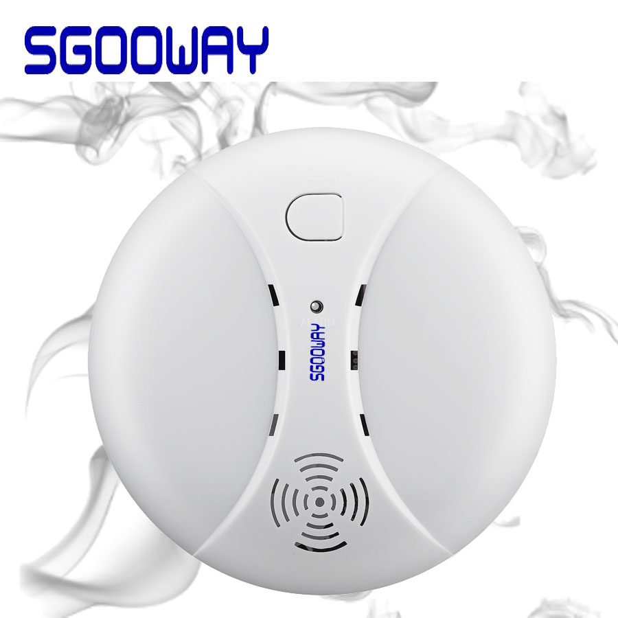 Sgooway Wireless Fire Protection Smoke Detector Portable Alarm Sensors For Home Security Alarm System