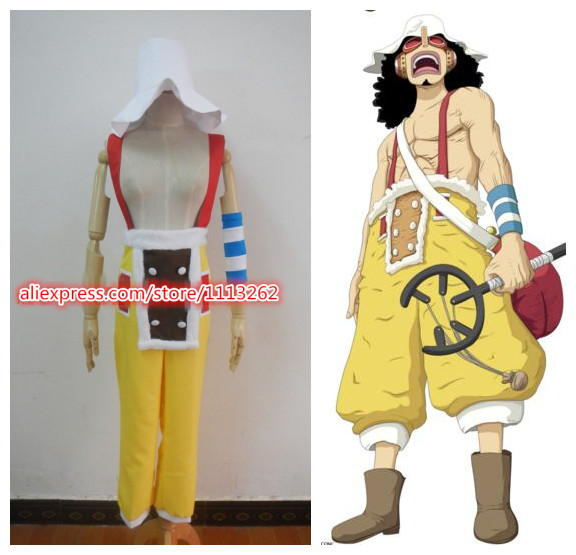 Anime One Piece Usopp Cosplay Costumes Two years later
