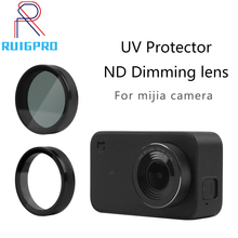 UV ND Filter Neutral Density Filtors Cover Lens Protective Protector for Mijia Xiaomi Mini MI Jia 4K Sport Camera Accessories silicone cover case skin cap protector for xiaomi mijia mi sphere camera kit 360degree panoramic sport action camera accessories