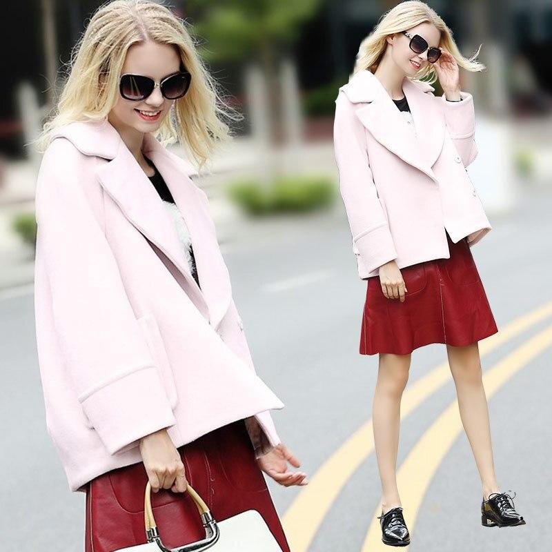 Rwc176004 Pardessus Vêtements Manteau Moyen 2018 Longueur Oversize Femmes Femelle Rose Veste Style Hiver 7wzPI1fq