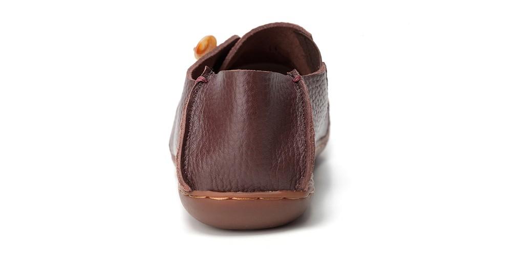 Vintage stiilis pruunid kingad lehmanahast