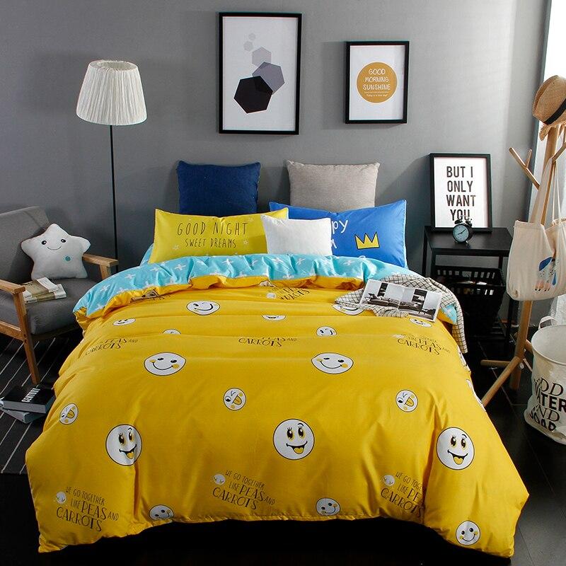 2017 Fashion Bright Yellow Duvet Cover Set 3 4pcs Bedding