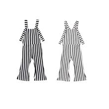 2018 Kids Baby Girl Stripe Bell-Bottom Bib Brace Pants Overalls Striped Romper Jumper Fashion Vest Clothes Outfits(China)