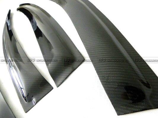 Déflecteur de vent en Fiber de carbone accessoires de finition en Fiber brillante garniture de course pour BMW E46 4 portes 4Dr - 3