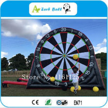 2018 new 5m Giant inflatable dart board/Inflatable human Darts/Inflatable Soccer foot dart board/Inflatable football dart game(China)