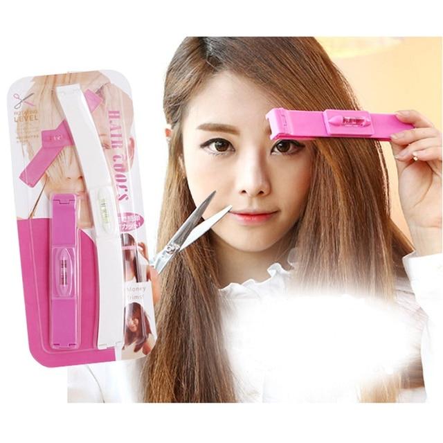 2pcs Set Fashion Diy Bangs Hair Cutting Clip Hairstyling Salon