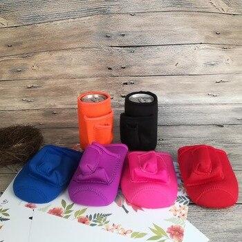 Enfriador de lata de neopreno sólido, cubrebotellas con 3 bolsillos, regalo de boda en 6 colores DOM106611