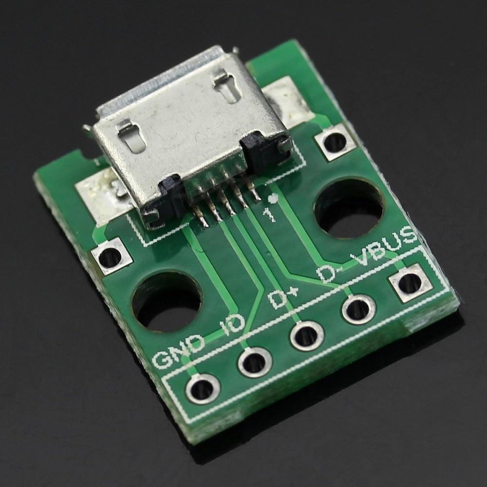 OOTDTY 5pcs/lot Female MICRO USB To Dip 5-Pin Pinboard Type B Plug Adapter Plate Weld Head 2 set lot neutrik powercon type a nac3fca nac3mpa 1 chassis plug panel adapter