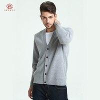 Geerya кашемировые кардиганы с кнопкой мужской свитер с длинным рукавом мужской Повседневное Осенняя мода Повседневное Топы Кардиган свитер