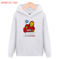Mode Marvel Comics De Avengers Superheld Trui Hoodie Spider Superman Iron Man Hulk Print Fleece Lange Mouw Sweatshirt