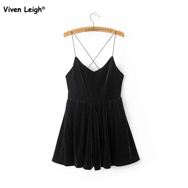 6d51e2799a7 placeholder Brand New Women Playsuit Sexy Flare Velvet Spaghetti Strape Romper  Urban Outfitters Pleated Shorts