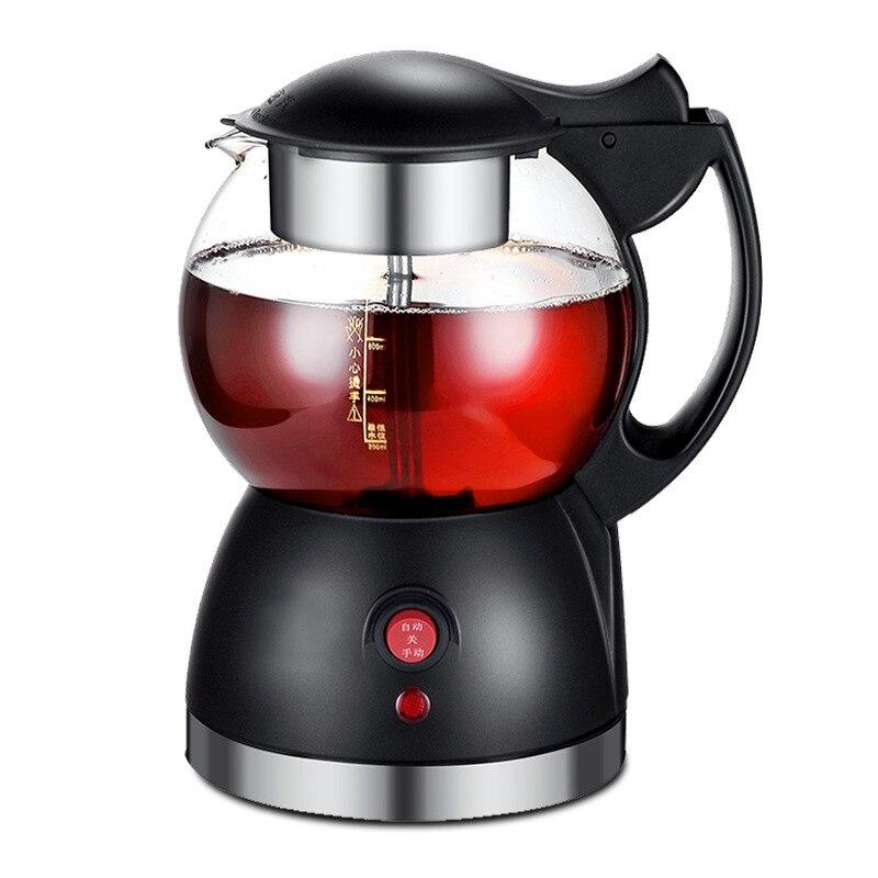 22%, 0.8L automatique vapeur en acier inoxydable chaud machine à thé en verre bouilloire électrique sous le chauffage cuisine santé pot 580W