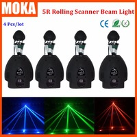4 шт./лот ролик луч 5R 200 Вт перемещающаяся головка управление светом dmx повернуть Ролик Сканер с подсветкой сценический эффект света