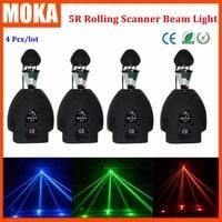 4 Pcs/lot roller beam 5r 200W moving head light DMX control Rotate Roller Scanner Light led stage effect light