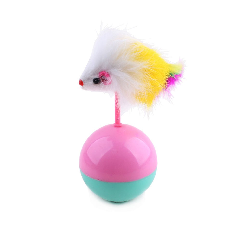 Cat Toys Balls : Durable pet cat toys mimi favorite fur mouse tumbler