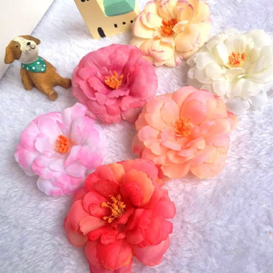 Newest Multi Color Bohemia Flower Blooming Fabric Flower Brooch Hair Clip Boutique Hair Accessories Hair Pin For Girl Gift