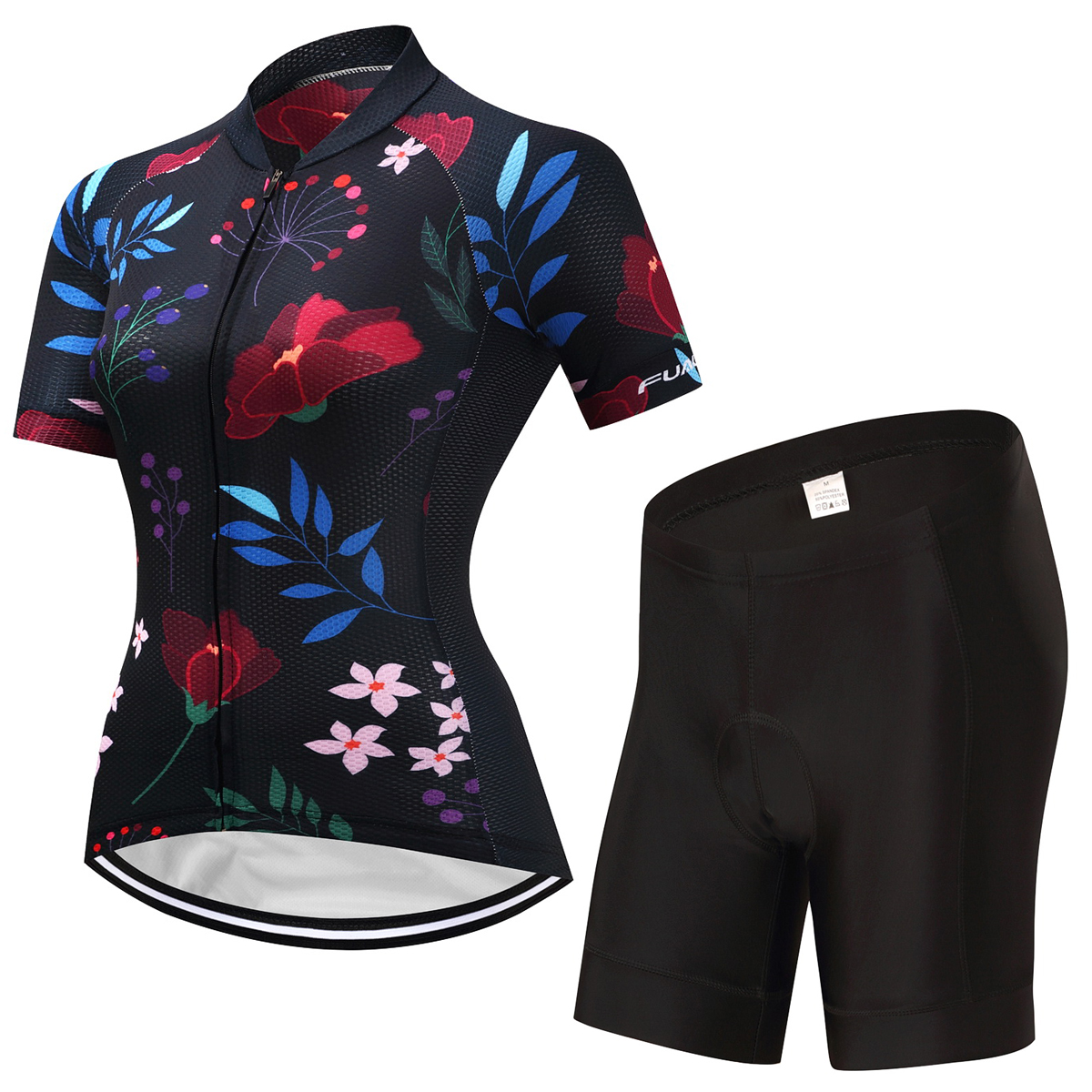 FUALRNY Caitlin Summer Breathable Women Mountian Bike Clothing Quick-Dry Bicycle Clothes Ropa Ciclismo Girls Cycling Jersey Set