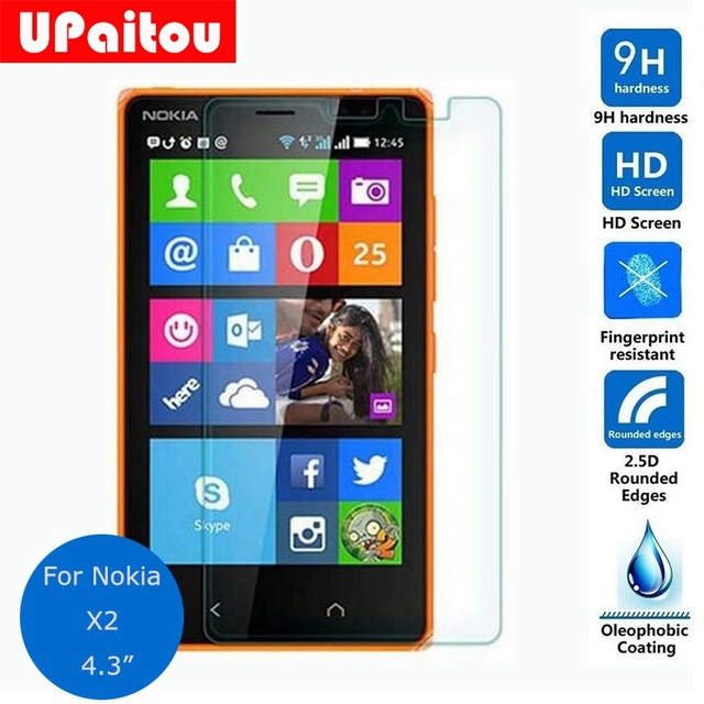 UPaitou for Nokia X2 Tempered glass Screen Protector 0.26mm 2.5 9h Safety Protective Film on X2 Dual Sim
