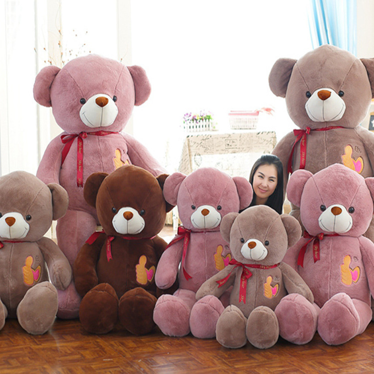 New Coming 3 Color 90Cm Big Thumb Lovely Teddy bear toy plush toy stuffed bear Dolls Kids birthday Christmas Gift huge lovely new plush teddy bear toy stuffed light brown teddy bear with bow birthday gift about 160cm