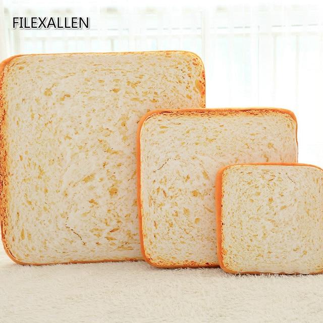 3d simulation toast sliced bread cushion back cushion pillow plush toys cat pet toys funny toys