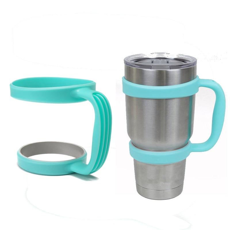 Portable Plastic <font><b>Blue</b></font> Mug Water Bottle <font><b>Cup</b></font> Handle for <font><b>YETI</b></font> 30 Ounce <font><b>Cup</b></font> Holder Travel <font><b>Rambler</b></font> Coffee <font><b>Tumbler</b></font> Drinkware